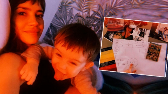 Celeste Cid y el acuerdo con su hijo para dejar la teta, tras dos años y medio de lactancia