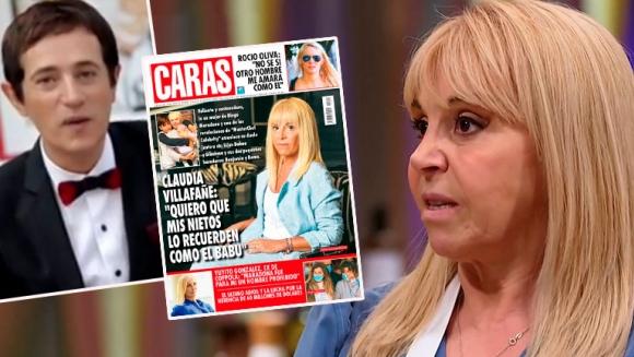 Así fue el chat de la revista Caras con Claudia Villafañe que desencadenó la tapa de la polémica: