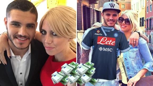 La audaz propuesta del Nápoli para contratar a Mauro Icardi... ¡y a Wanda Nara!
