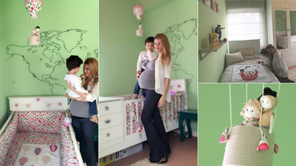 Vanina Escudero dejó espiar la habitación que le preparó a su beba (Foto: Twitter)