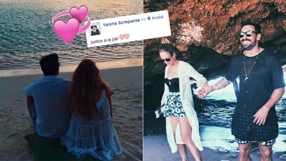 Pocho Lavezzi y Yanina Screpante, enamorados en las playas de Aruba (Foto: redes sociales)