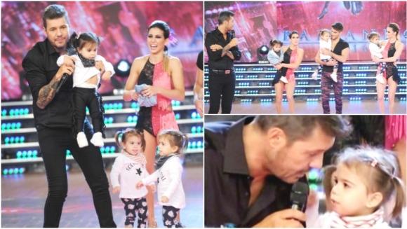 La imperdible reacción de las hijas de Cinthia Fernández al ver a Tinelli tras 7 meses (Fotos: Prensa Ideas del Sur y Captura)