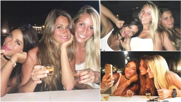 La salida de Antonella Roccuzzo con sus amigas en Barcelona (Fotos: Instagram)