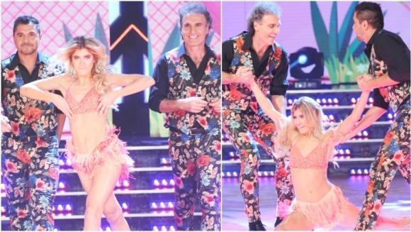 Candela y Oscar Ruggeri la rompieron en la salsa de tres de ShowMatch (Fotos: Prensa Ideas del Sur)