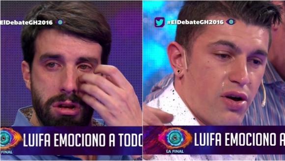 El llanto de Flavio Azzaro por la historia de Luifa en El Debate de GH. Foto: Captura
