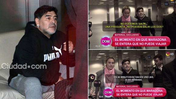 El audio de Maradona en Migraciones al enterarse que no puede salir del país