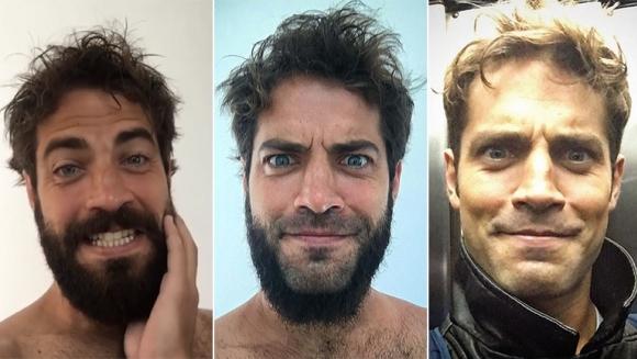 El cambio de look de Benjamín Alfonso. (Fotos: Instagram)