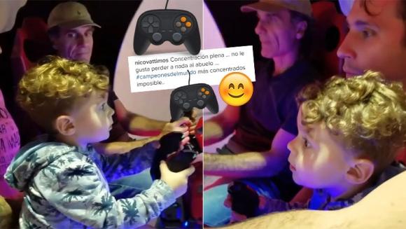 El divertido video de Oscar Ruggeri con su nieto, jugando un videojuego (Foto: Instagram)