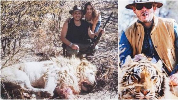 La palabra de Matías Garfunkel tras la filtración de fotos con Victoria Vannucci cazando animales (Fotos: redes sociales)