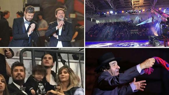 ¡Noche de gala! La felicidad de Marcelo Tinelli en la inauguración del polideportivo de San Lorenzo en Boedo