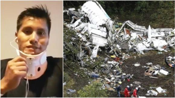 Habló Erwin Tumiri, uno de los sobrevivientes de la tragedia de Chapecoense tras recibir el alta (Fotos: Captura y Web)