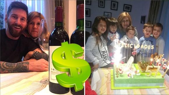 Lionel Messi le festejó el cumpleaños a su mamá: cuánto valen las botella de vino que bebieron