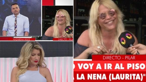 Nazarena Vélez le dio un móvil a Ángel de Brito… y ninguneó a Laurita Fernández que estaba en el piso