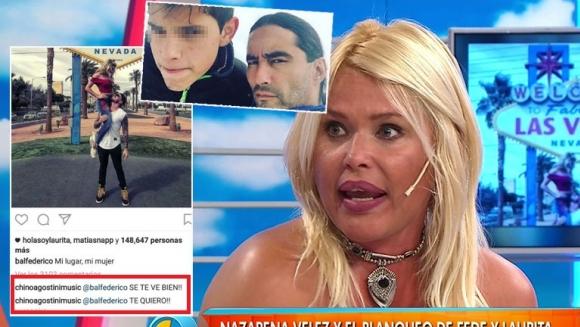 Nazarena Vélez, enojadísima con su hijo Gonzalo por el comentario que le escribió a Fede Bal.