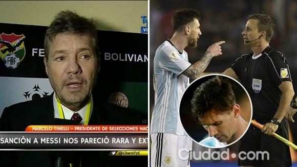 Marcelo Tinelli habló sobre la reacción de Lionel Messi tras recibir la sanción de cuatro fechas: