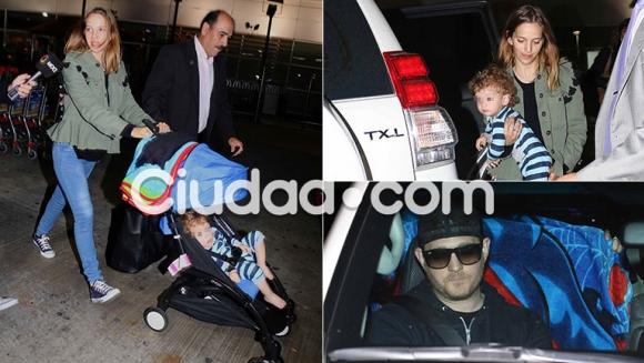 Luisana Lopilato regresó a la Argentina junto a Michael Bublé y sus hijos  (Foto: Movilpress)