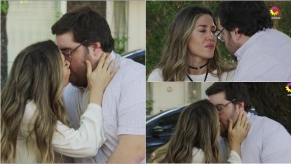 El beso de Jimena Barón y Darío Barassi en Quiero vivir a tu lado. Foto: Captura