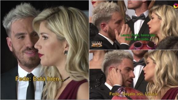 Este es el show le hizo lectura de labios al tenso encuentro entre Fede Bal y Laurita Fernández para la foto del Bailando. Foto: Captura