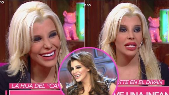 Charlotte Caniggia reapareció en Cortá por Lozano con su nueva imagen. Foto: Captura