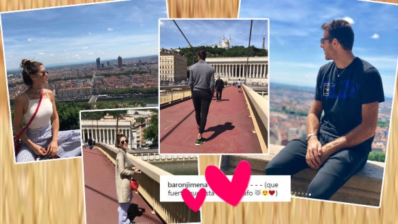 Los días de amor de Jimena Barón y Juan Martín del Potro en Francia (Fotos: Instagram)