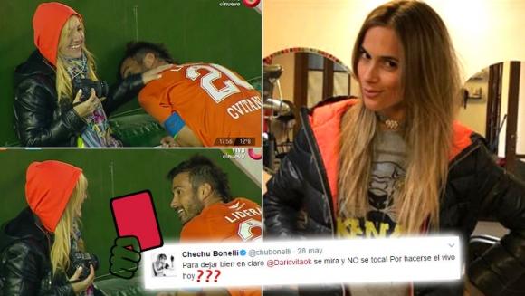 ¡Marca personal… en vivo! Cvitanich fue consolado por una fotógrafa en la cancha… ¡y Chechu Bonelli lo cruzó en Twitter!