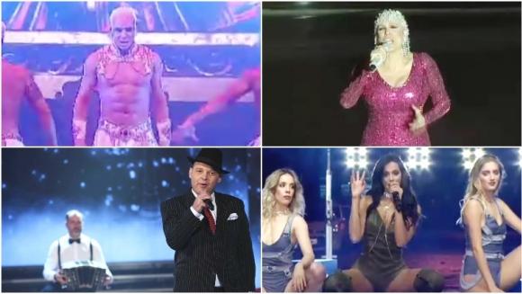 Así fue la apertura de la temporada Nº 28 de ShowMatch (Fotos: Captura y Prensa Ideas del Sur)