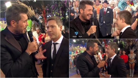 La divertida charla entre Adrián Suar y Marcelo Tinelli en el debut de ShowMatch. Foto: Captura