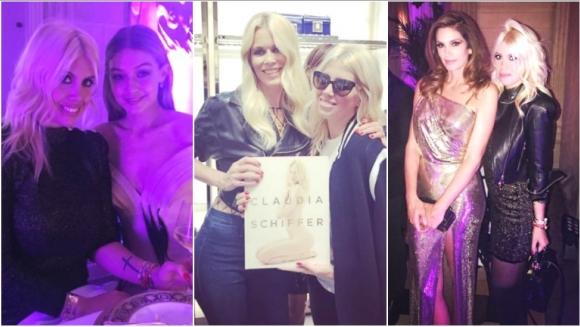 Las fotos de Wanda Nara junto a modelos súper top en el desfile de Donatella Versace (Fotos: Instagram)