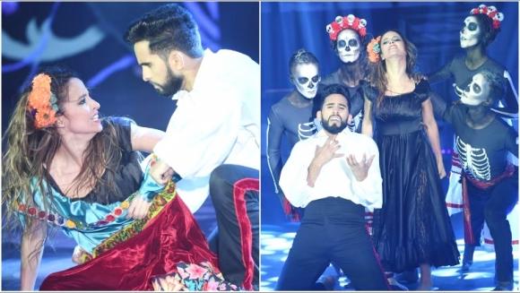 El increíble baile de Lourdes Sánchez y Gabo Usandivaras en el ritmo libre en ShowMatch (Fotos: Prensa Ideas del Sur)