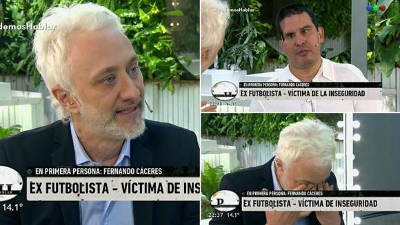 Andy Kusnetzoff se emocionó hasta las lágrimas en PH por la historia del Negro Cáceres