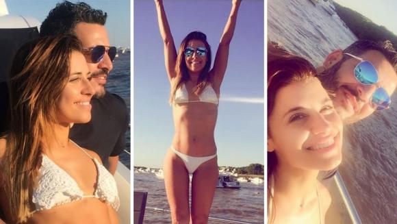 Mariana Brey y Pablo Melillo pasaron un domingo a puro romance a bordo de un yate. (Foto; Instagram)