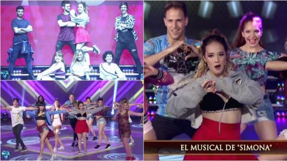Ángela Torres y el elenco de Simona se presentaron en Bailando 2017