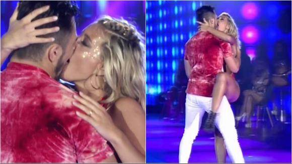El beso de Sol Pérez y Fernando Bertona en el pop latino de ShowMatch