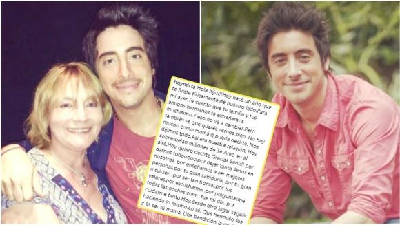 El recuerdo de la mamá de Santi Vázquez a un año de su muerte: ¡Te extraño y te amo hasta el final mi príncipe...