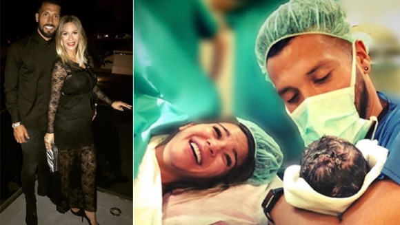 Ezequiel Garay y Tamara Gorro se convirtieron en padres por segunda vez