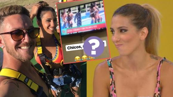 La divertida reacción del bailarín al que vincularon con Cinthia Fernández y el picante comentario de la vedette:...