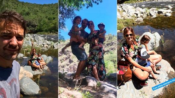 Pedro Alfonso y Paula Chaves, de paseo con sus hijos por las sierras cordobesas