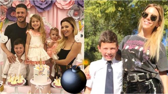 El deseo bomba que pidió el hijo mayor de Evangelina Anderson y Demichelis en el cumple de su hermanita Emma (Fotos: Instagram)