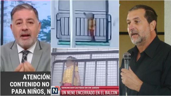 Fabián Doman se peleó con Javier Garín, el abogado del jardín de infantes donde filmaron a un nene en un balcón