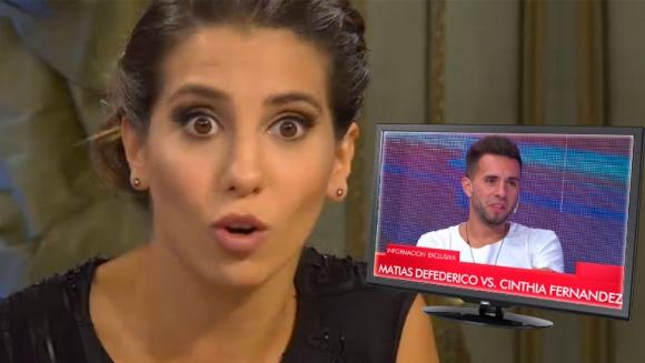 Cinthia Fernández, furiosa tras los dichos de Defederico: Que deje de hablar de mí; y lo puteé con justa razón