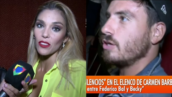 Becky Vázquez y Fede Bal en Intrusos.