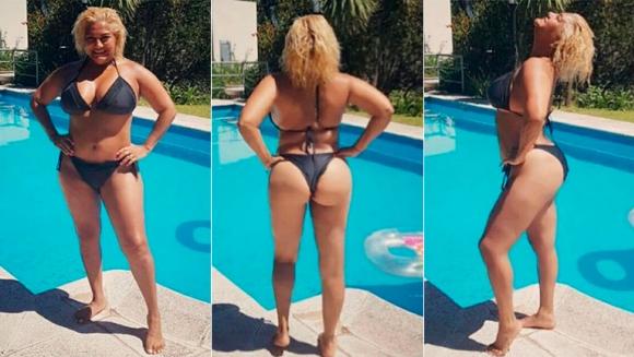 Gladys La Bomba Tucumana, en bikini y sin retoques digitales