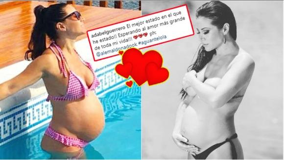 La foto sexy de Adabel Guerrero en topless y luciendo su panza de 7 meses (Fotos: Instagram)