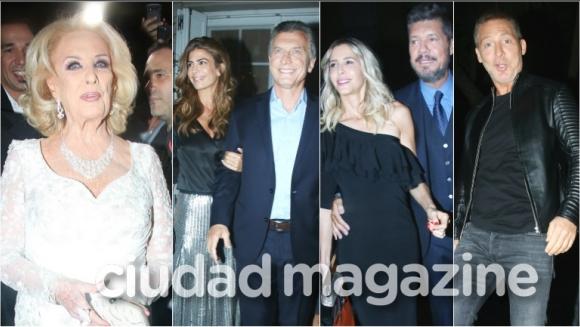 Cumbre de famosos en el cumpleaños de Mirtha Legrand (Fotos: Movilpress)