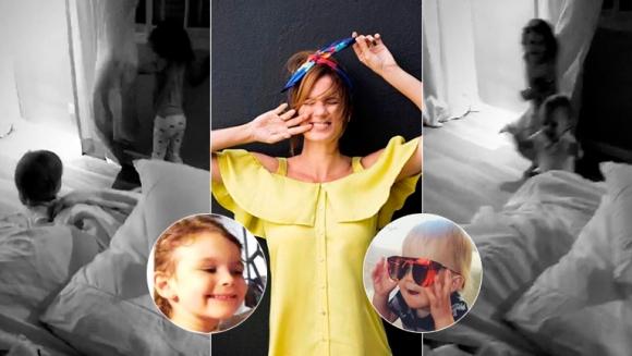 El divertido video de los hijos de Paula Chaves, corriendo por el cuarto