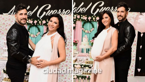 Martín Lamela y Adabel Guerrero celebraron el baby shower de Lola. Foto: Cristian Molina.