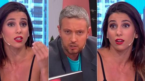 Fuerte cruce entre Cinthia Fernández y el periodista Pablo Carrozza