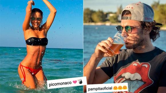 ¡Amor 2.0! Pampita y Pico Mónaco, fotos sexies y crece de emojis románticos en las redes sociales