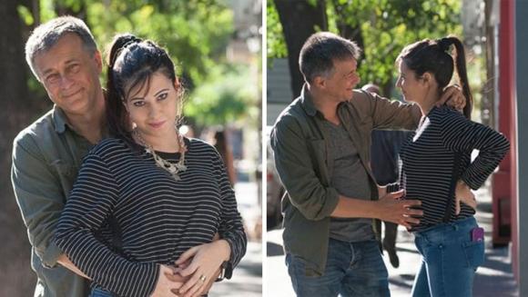 Rolando Graña y Giselle Kruger, embarazados de una nena. (Foto: revista Pronto)