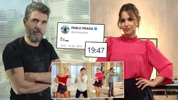 El picante palito twittero del Chato Prada ¿para Pampita y su programa?: ¿Es Este es el Show?